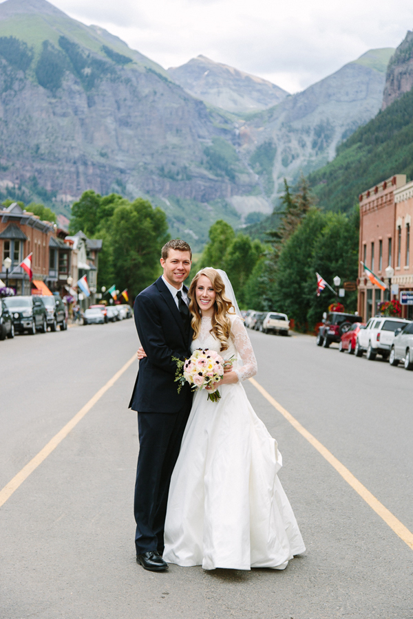 Wedding Couple at Bridal Veil Falls | Cat Mayer Studio | www.catmayerstudio.com