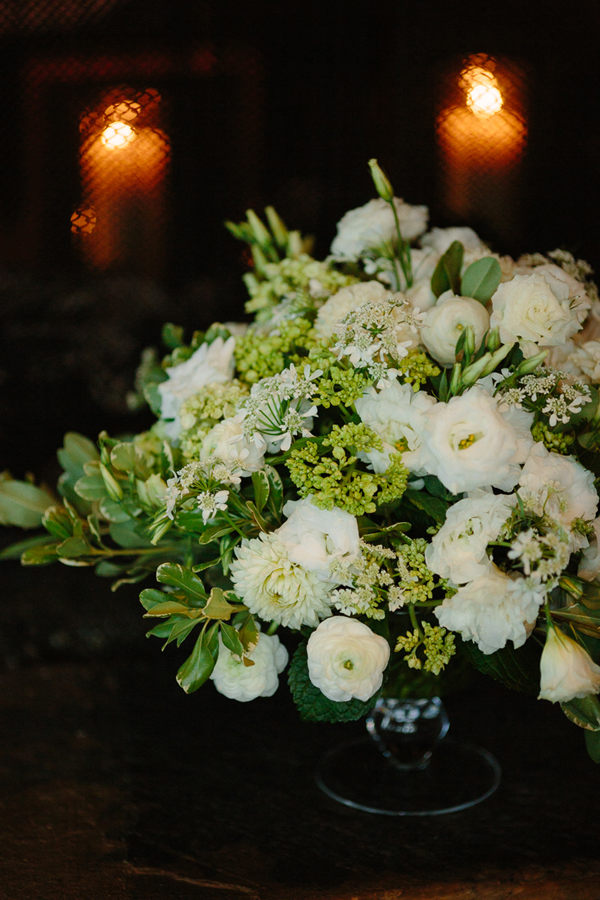 New Leaf Floral white wedding reception flowers | Cat Mayer Studio | www.catmayerstudio.com