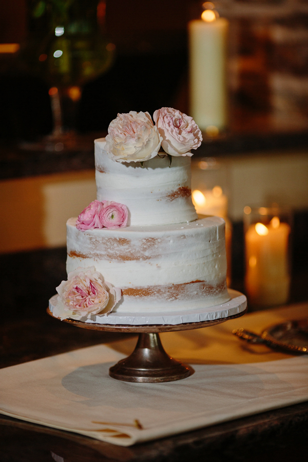 Naked wedding cake by Mulberries | Cat Mayer Studio | www.catmayerstudio.com