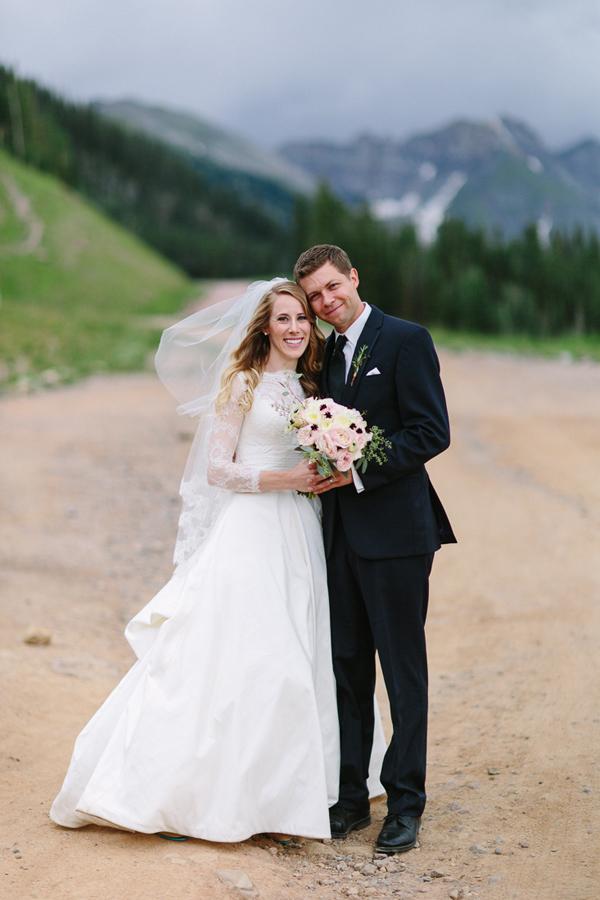 Bride and Groom at San Sophia Overlook | Telluride Wedding Photographer Cat Mayer Studio | www.catmayertudio.com