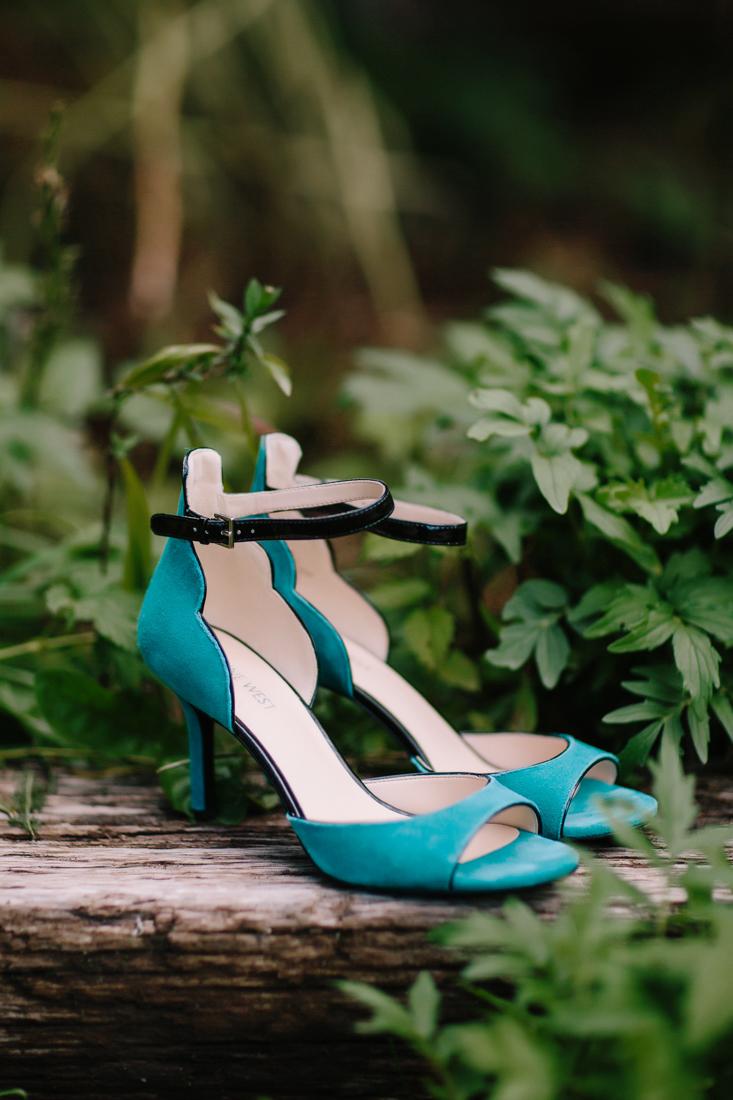 Aspen Wedding Photography | Turquoise High Heels  | Cat Mayer Studio | www.catmayerstudio.com