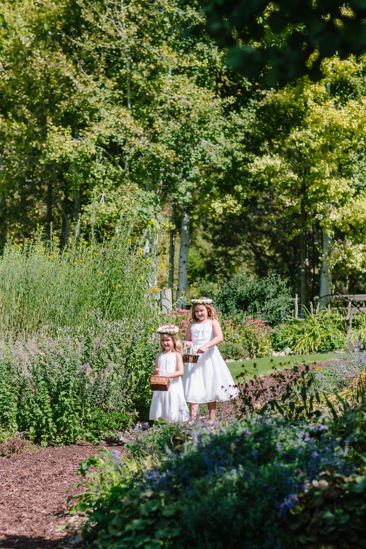 Flower Girls Walking Down Outdoor Isle | Cat Mayer Studio | www.catmayerstudio.com