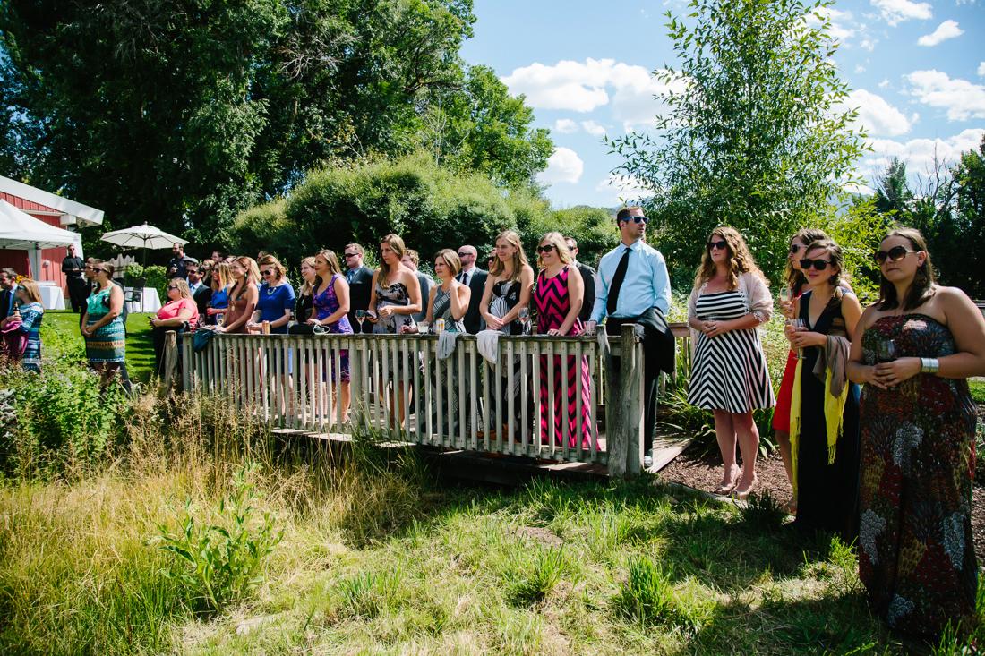 Guests Watch Wedding in Aspen | Photography by Cat Mayer Studio | www.catmayerstudio.com