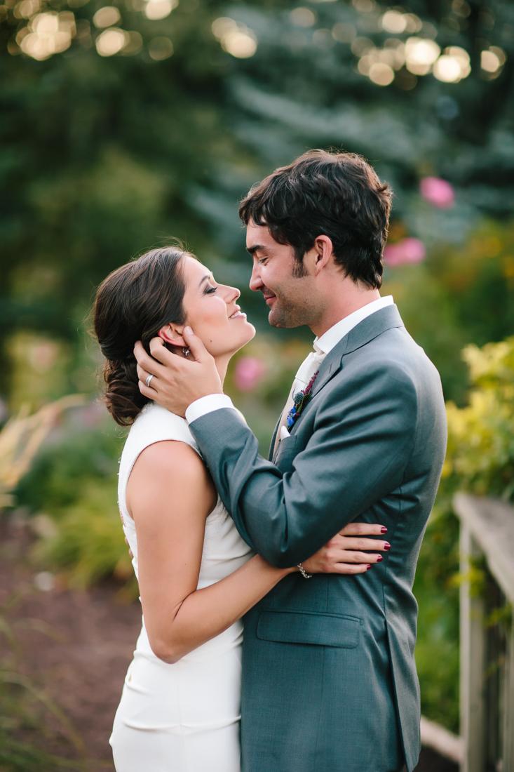 Wedding Couple Look Lovingly at Eachother | Photography by Cat Mayer Studio | www.catmayerstudio.com