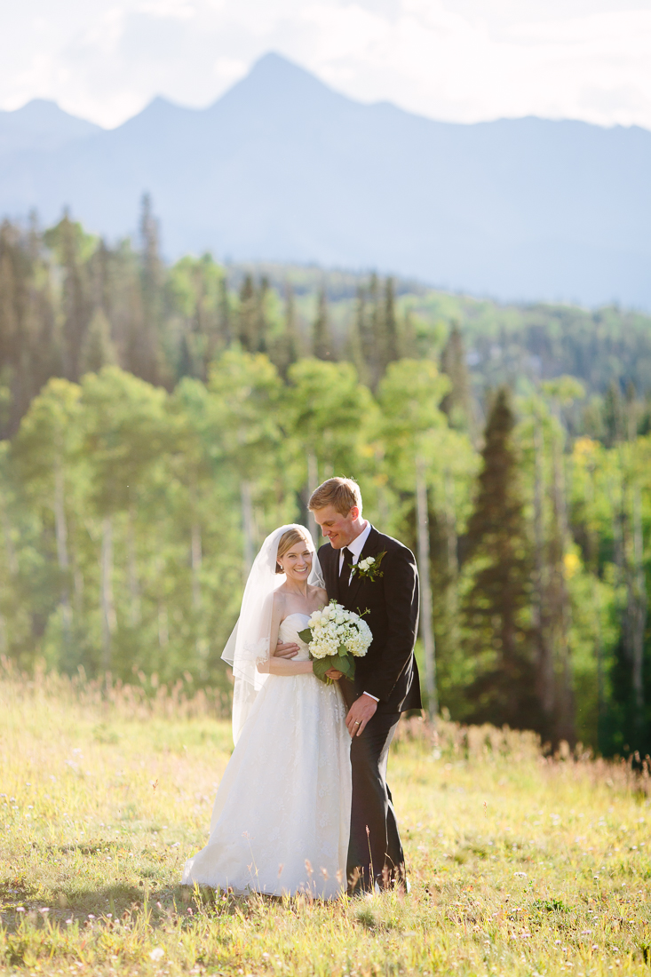 Telluride Wedding Photography | September Wedding Couple with Wilson Mountain Range Backdrop | Cat Mayer Studio | www.catmayerstudio.com
