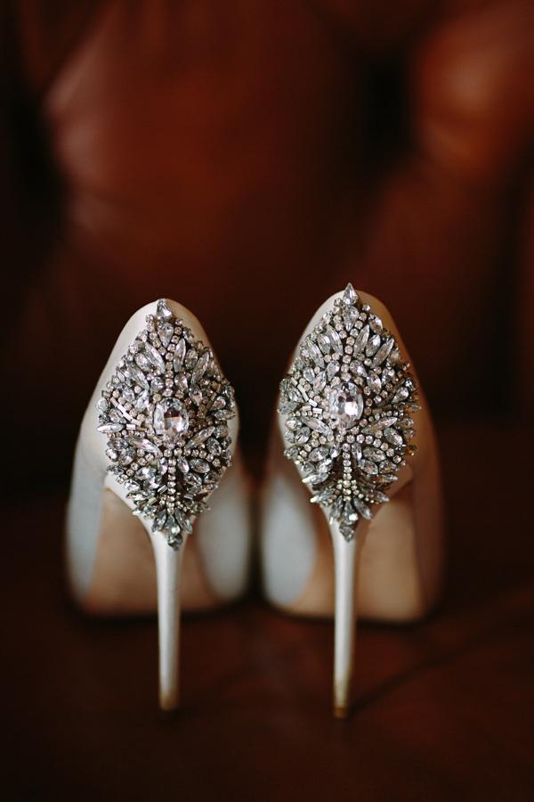 Gateway Canyons Wedding Shoot | Bride's Jeweled Pumps | Cat Mayer Studio | www.catmayerstudio.com