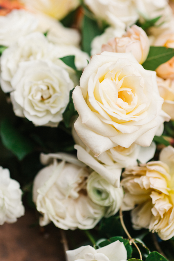 White Roses for Rustic Wedding | Cat Mayer Studio | www.catmayerstudio.com
