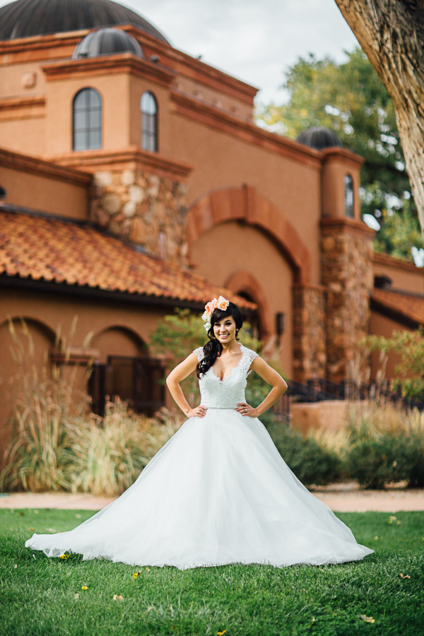 Full and Flowing White Wedding Dress | Cat Mayer Studio | www.catmayerstudio.com