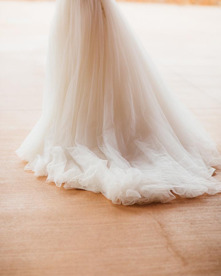 Wedding Dress with Long Train | Cat Mayer Studio | www.catmayerstudio.com