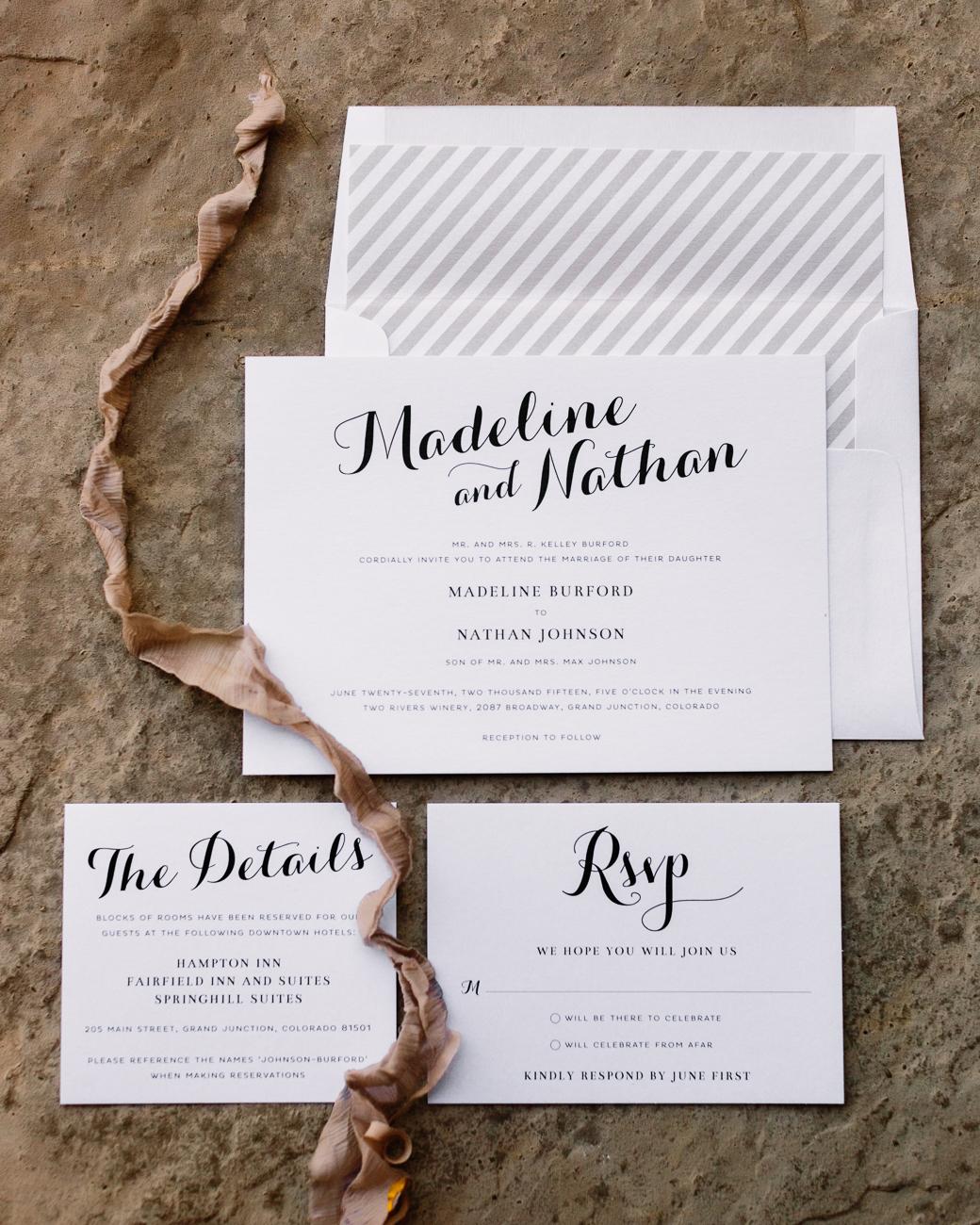 Grand Junction Wedding | Black and White Wedding Stationery by Shine Wedding Invitations | Cat Mayer Photography | www.catmayerstudio.com