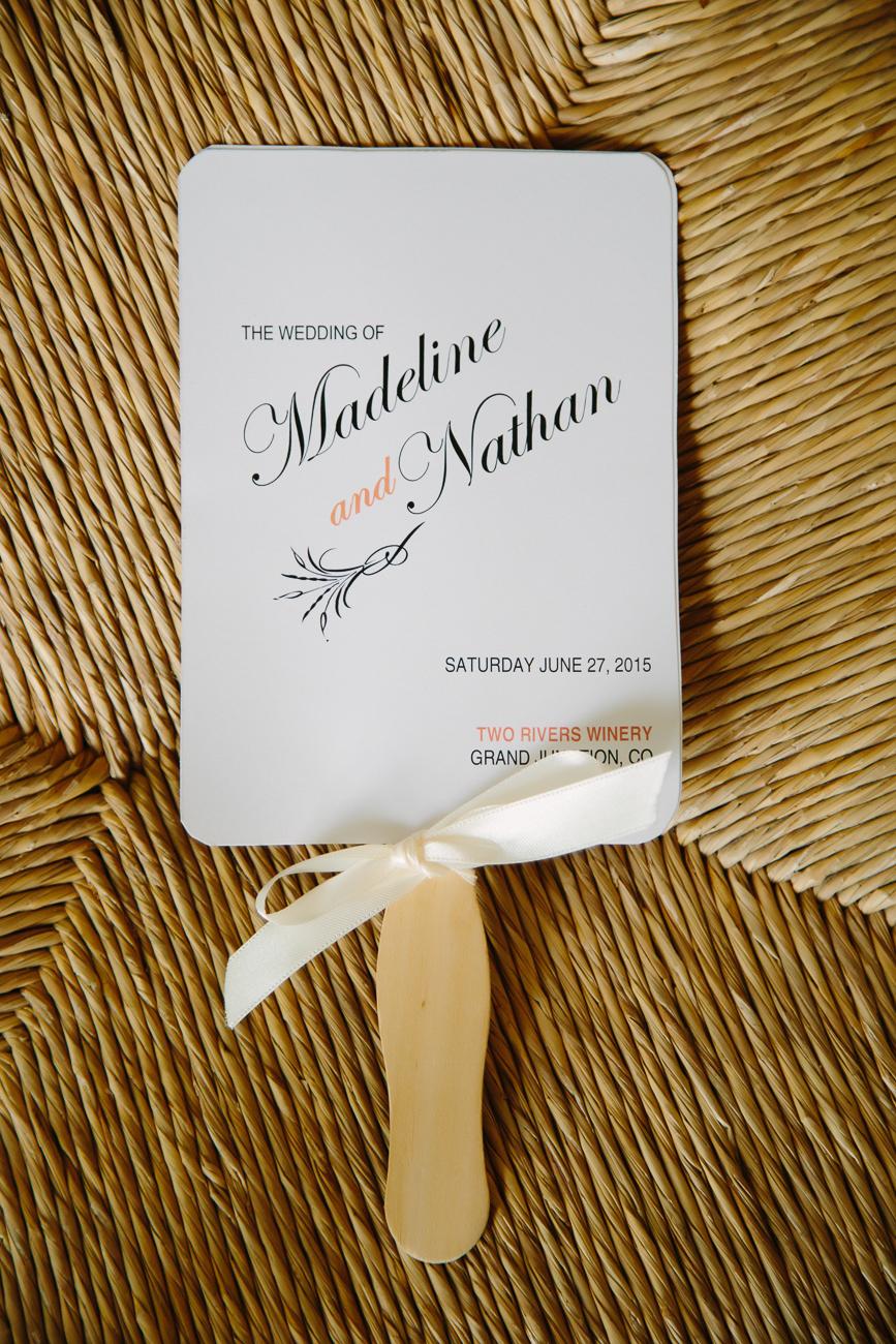 Two Rivers Winery Wedding | Creative Wedding Programs | Cat Mayer Photography | www.catmayerstudio.com