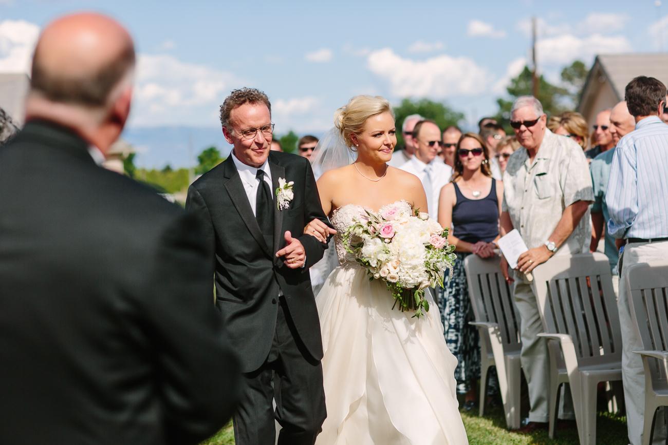Bride Walking Down Isle with Father | Cay Mayer Studio | www.catmayerstudio.com