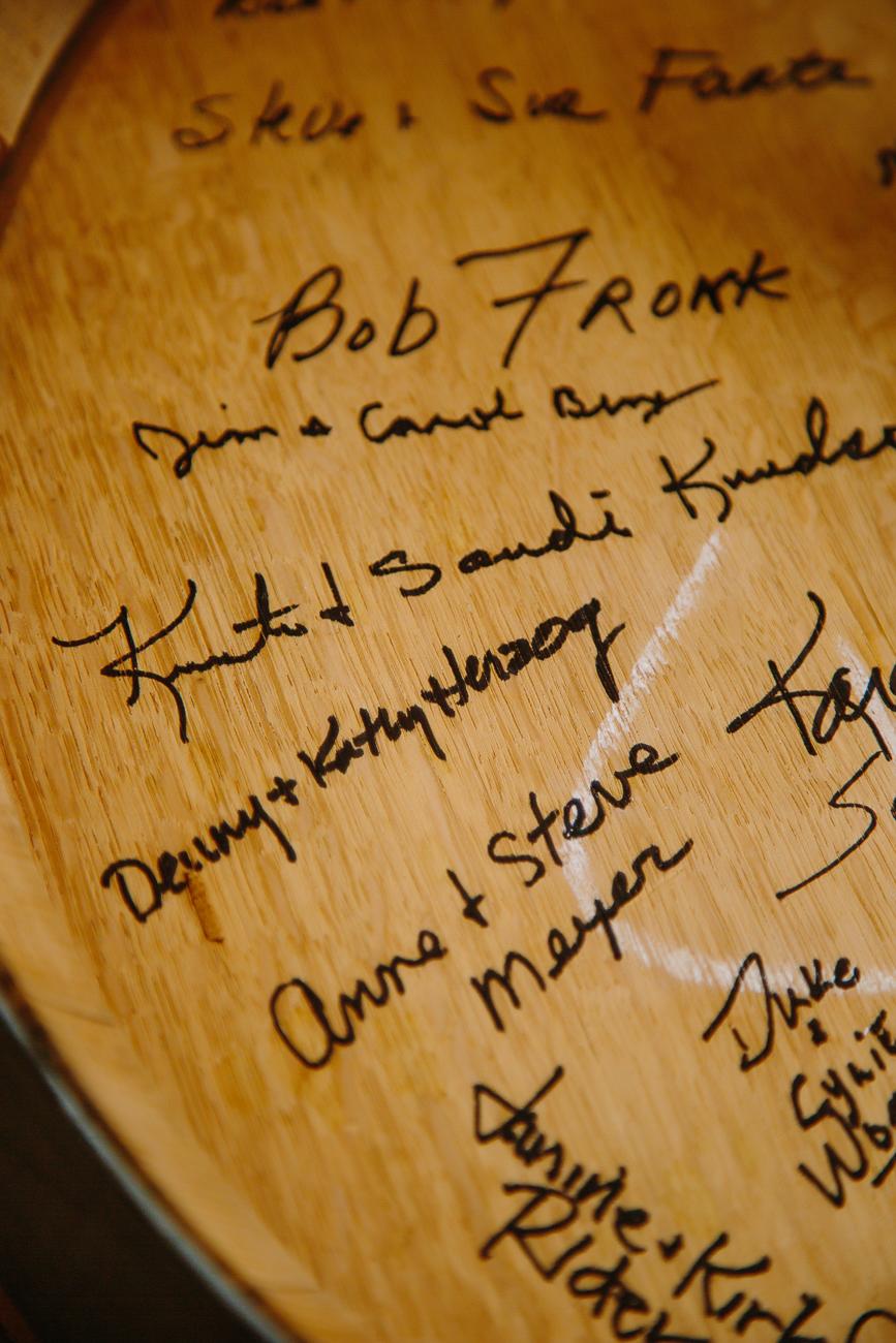 Wine Barrel Guest Book | Cay Mayer Photography | www.catmayerstudio.com