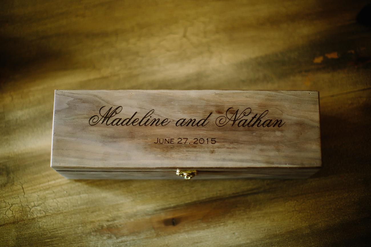 Personalized Wedding Wood Box | Cay Mayer Studio | www.catmayerstudio.com