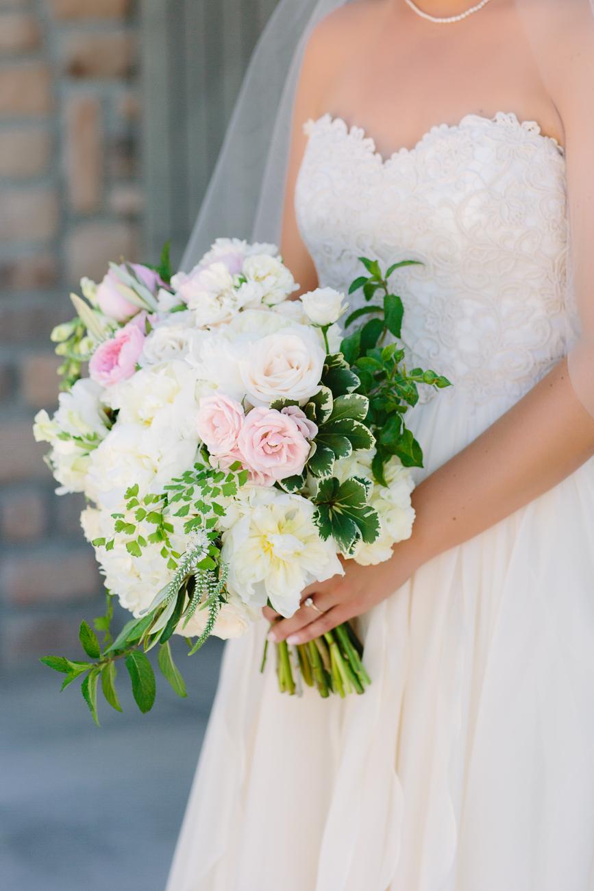 Summer Flowers Held By Bride | Cay Mayer Studio | www.catmayerstudio.com