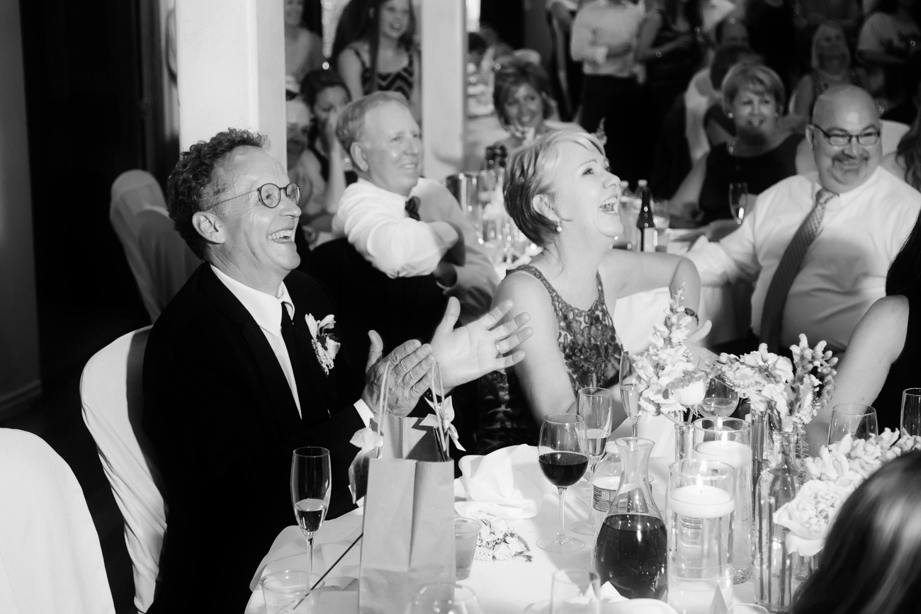Family Laughts During Wedding Toast | Cay Mayer Studio | www.catmayerstudio.com