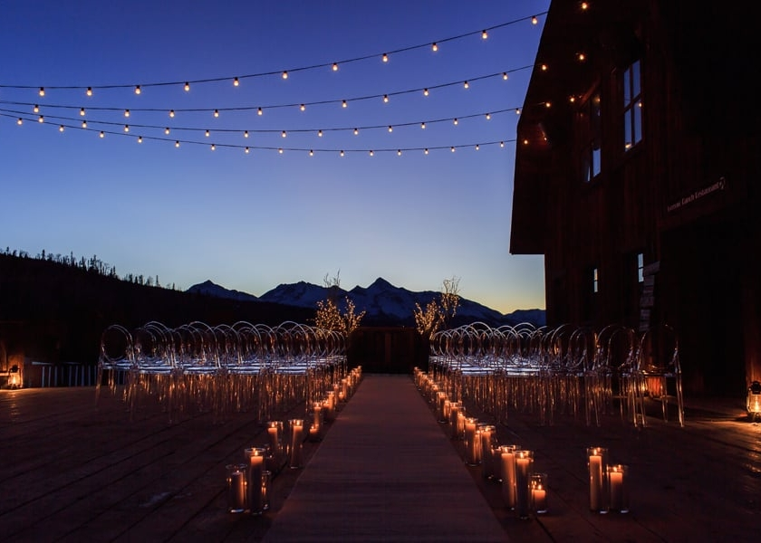 Gorrono Ranch at night