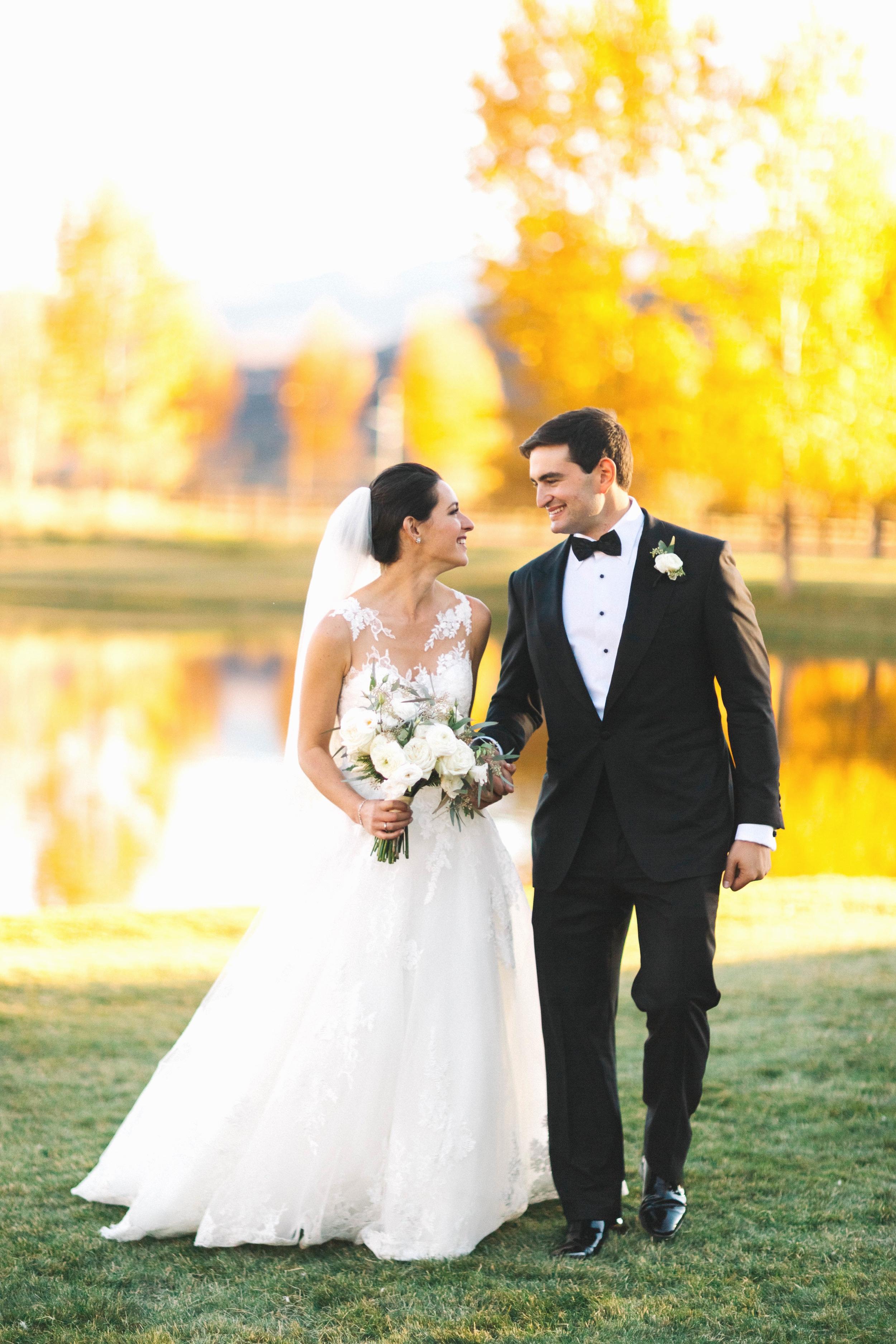 Cat Mayer | Bride and Groom at Chaparral Ranch Destination Wedding | Aspen, Colorado