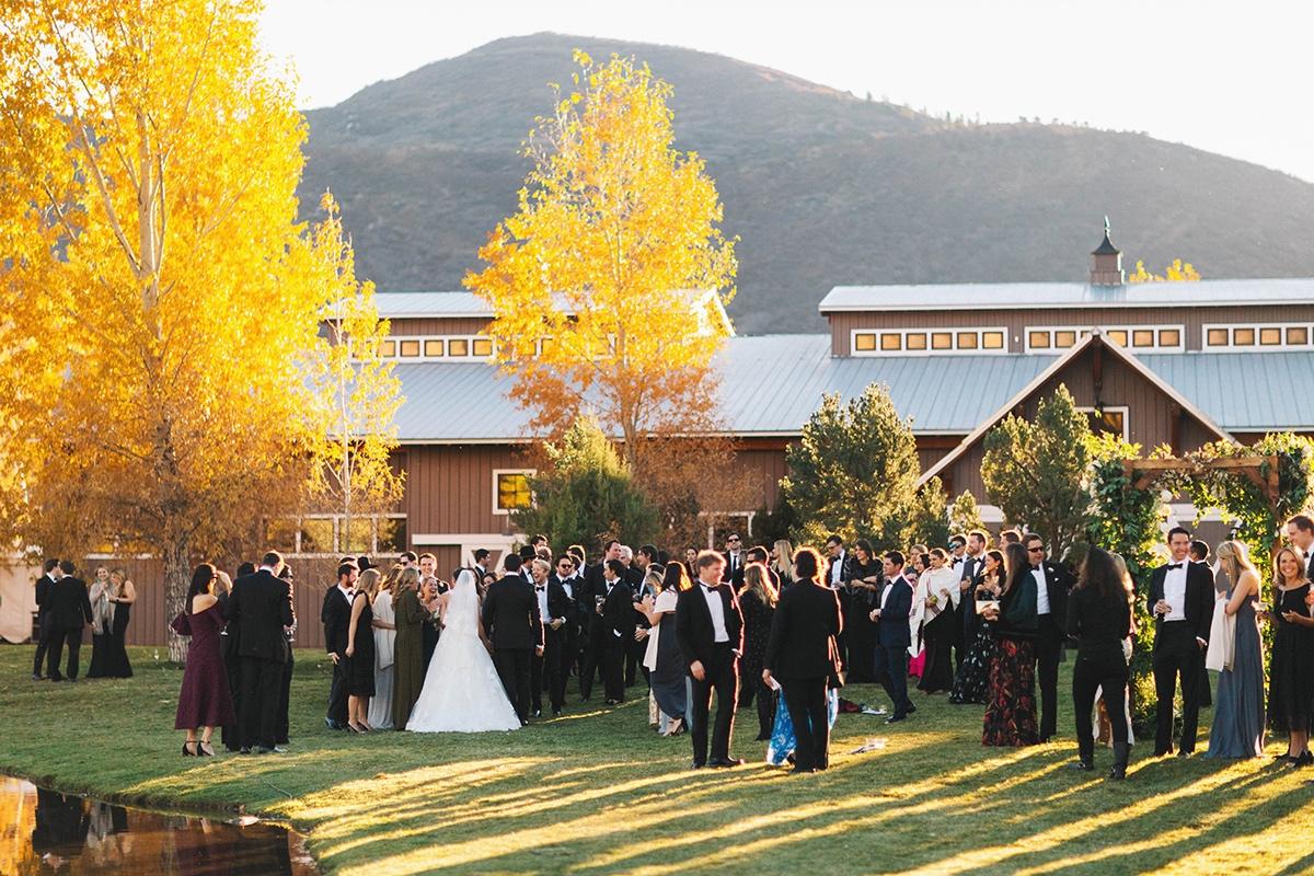 Gold Leaf Events Destination Wedding at Chaparral Ranch in Aspen, Colorado