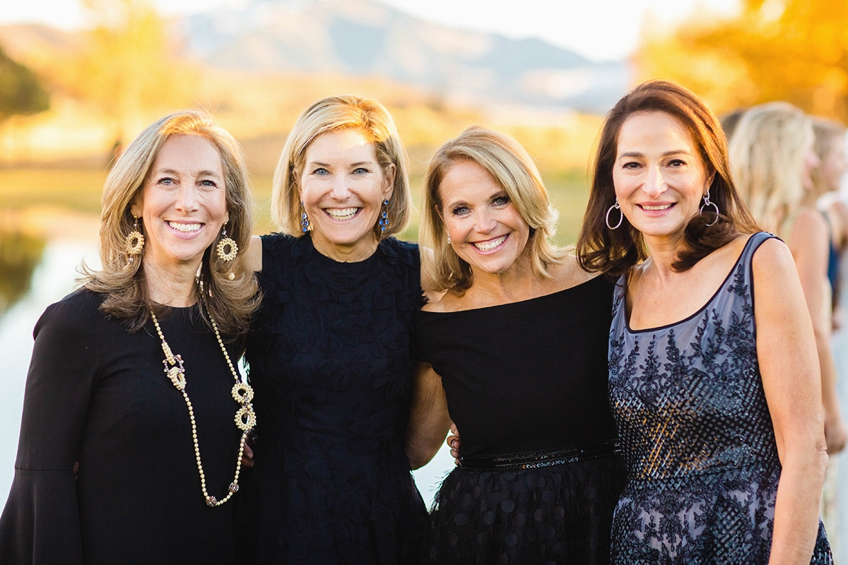 Groom's mother with friends at Aspen Ranch Destination Wedding | Cat Mayer Studio