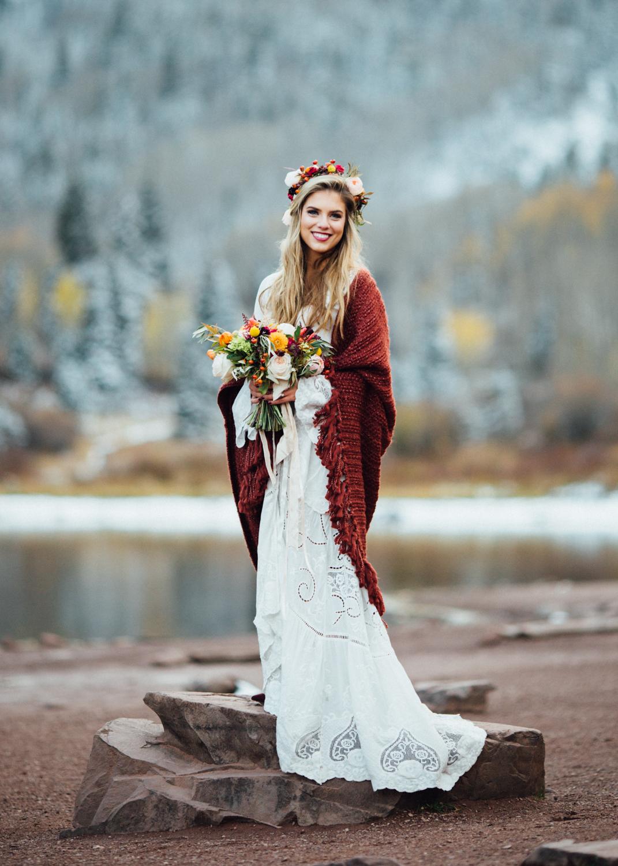 Boho Bride Aspen Wedding | Cat Mayer