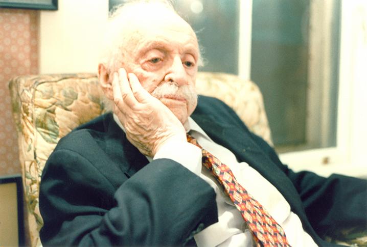 Edward Bernays at his Cambridge, Massachusetts home, December 1994, age 103.
