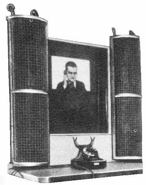 """The """"Gegensehn-Fernsprechanlage"""" (visual telephone system)"""