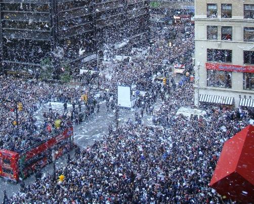 November 6, 2009: The New York Yankees celebrate their 27th World Series title.