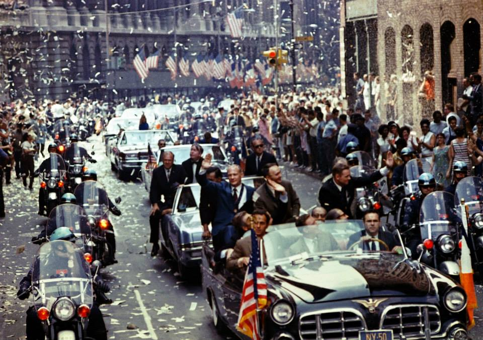 August 13, 1969: The moon men are welcomed home as New Yorkers pile into the streets to celebrate the Apollo 11 mission.