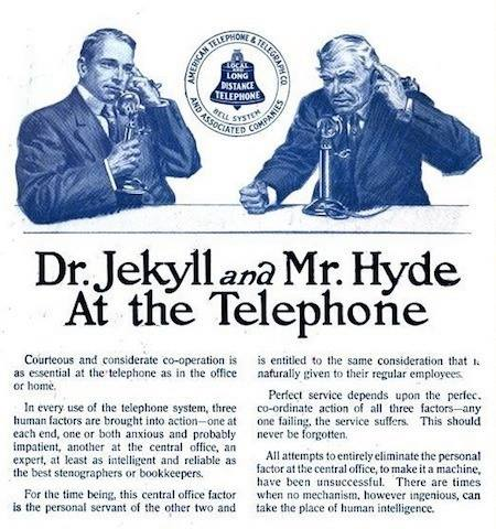 1910 Bell Telephone etiquette advertisement