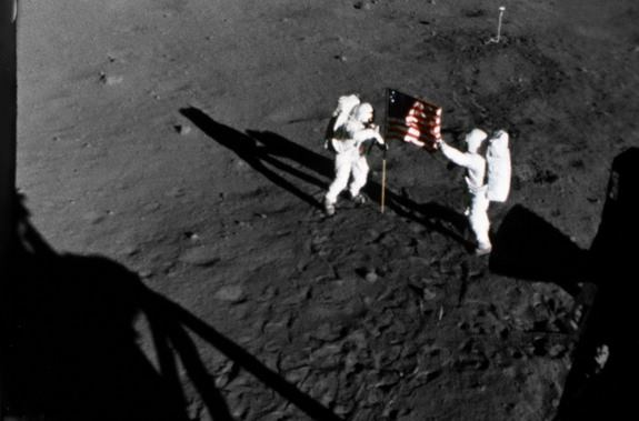 Buzz Aldrin and Neil Armstrong on July 20, 196