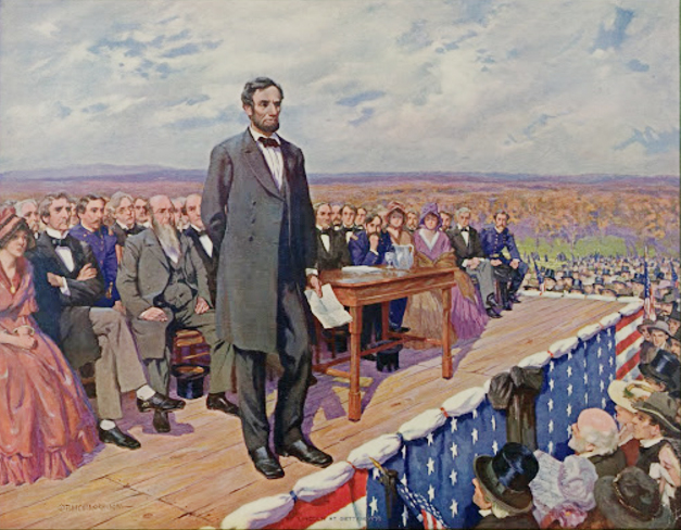 Lincoln delivers the Gettysburg address by Fletcher Ranson