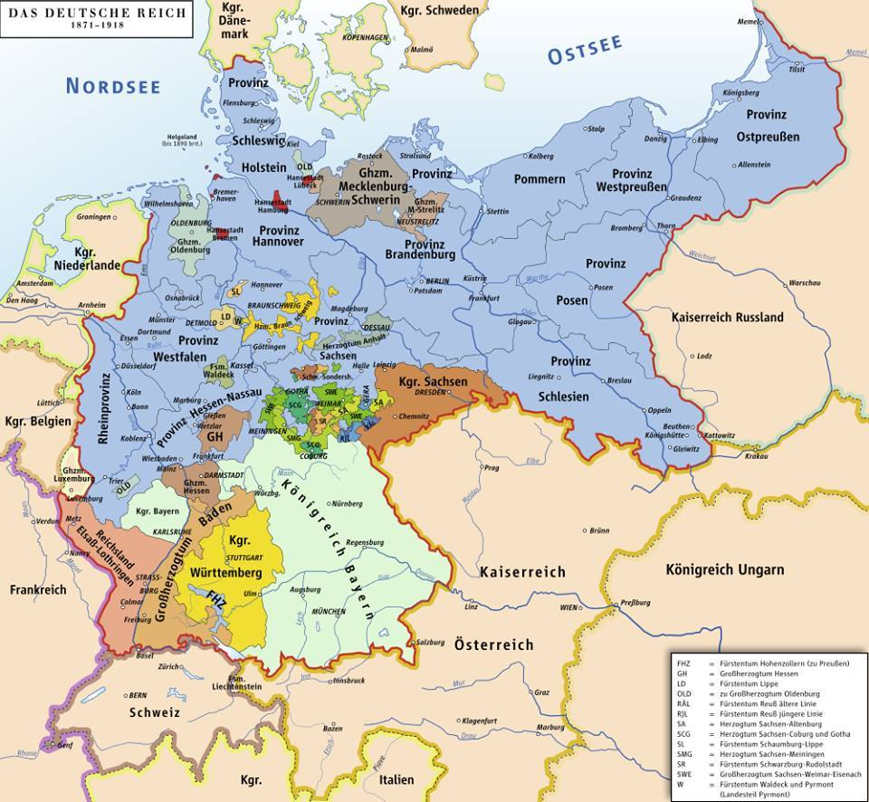 German Empire from 1871-1918