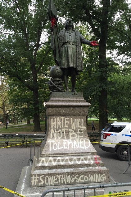 Christopher Columbus Statue at Central Park, New York. Photo Credit: New York Post