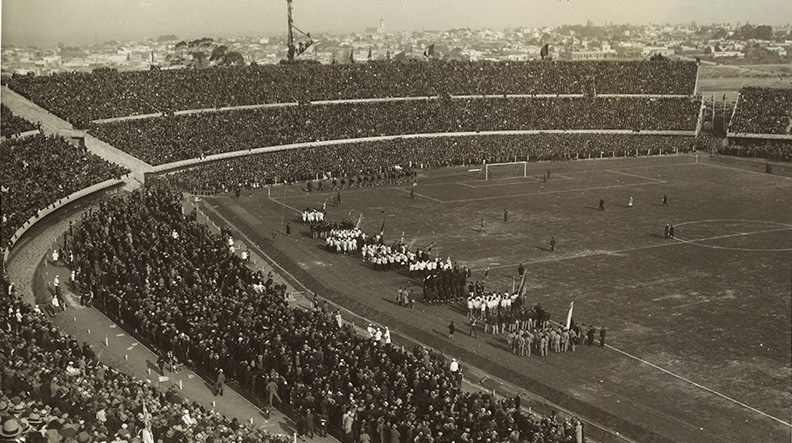 The first World Cup stadium in Uruguay, July 1930   Photo by FIFA.