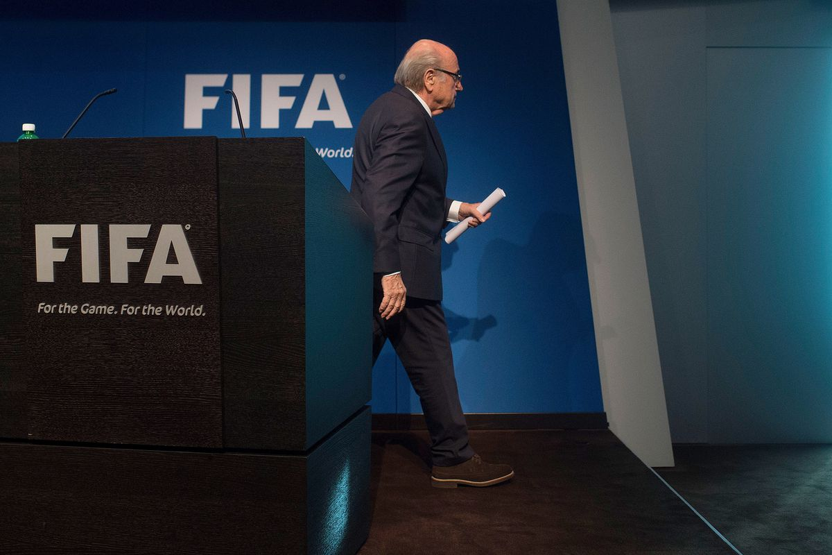 FIFA President Sepp Blatter resigns, June 2, 2015   Photo by Vox.