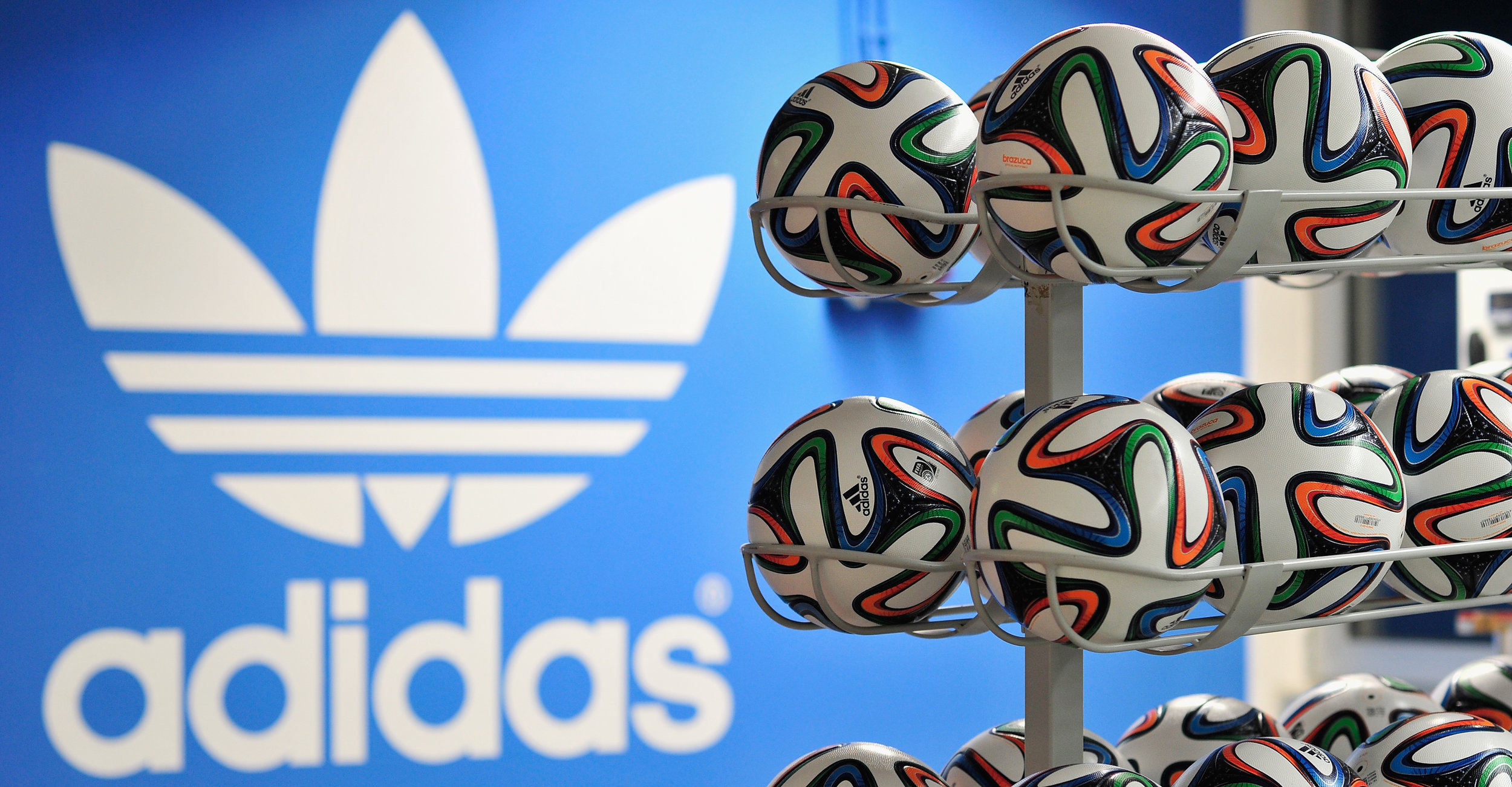 World Cup 2014 Brazuca replica match balls by   Adidas   Photo   by Getty Images.