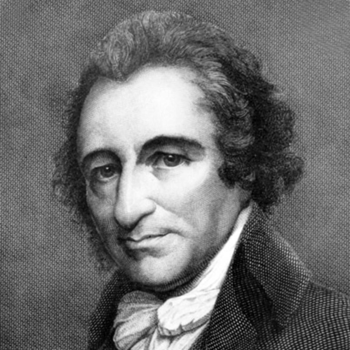 Writer Thomas Paine.  Photo by Biography.com