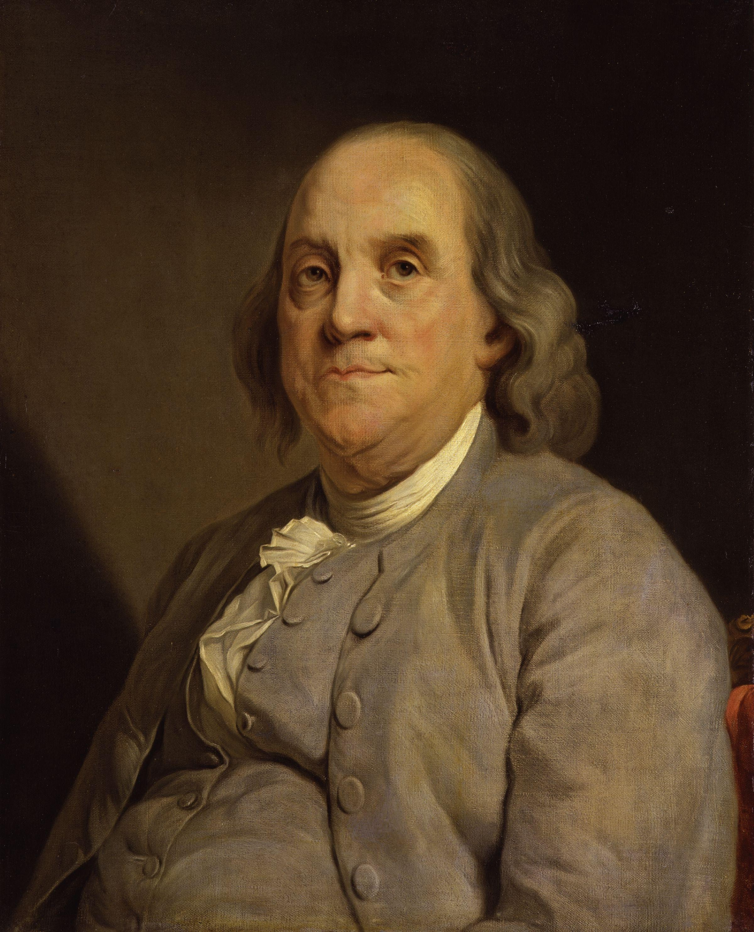 """""""Benjamin Franklin"""" by Joseph Siffred Duplessis licensed under CC BY 2.0"""