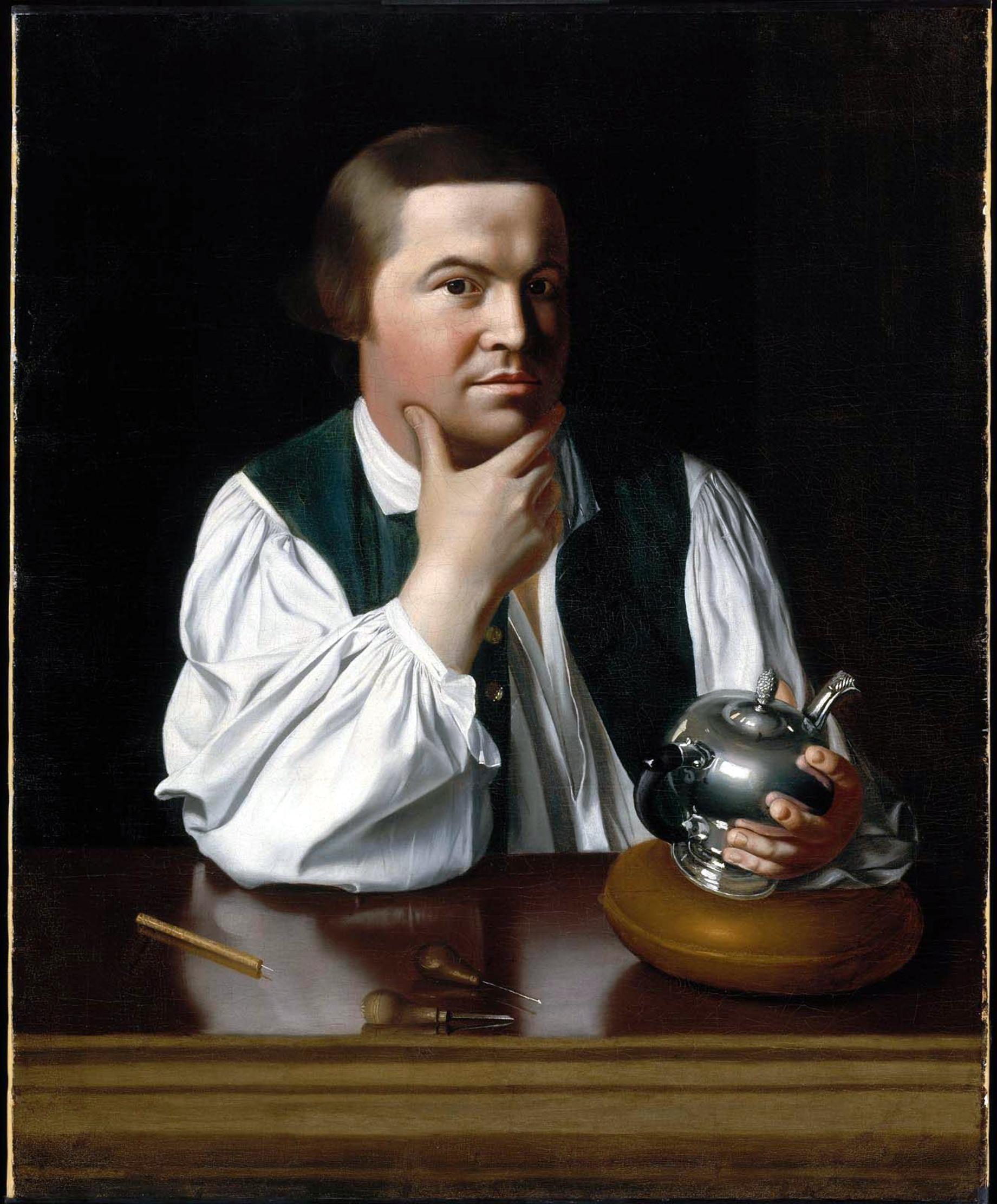 """Portrait of Paul Revere"" by John Singleton Copley licensed under CC BY 2.0"