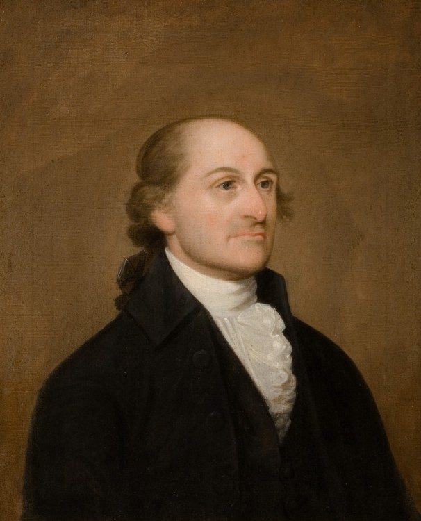 John Jay (1745-1829) - New York-native, John Jay, served as the first chief justice of the U.S. Supreme Court among a variety of top government posts. Jay drafted the state's first constitution in 1777 and was chosen president of the Continental Congress the following year. Jay served two years as governor of New York and then sought a deeper consolation in religion after his time in politics. Although he was not a member of the Constitutional Convention of 1787, Jay strongly supported ratification of the Constitution and would have contributed far more than the five essays he wrote for The Federalist had illness not crept up.