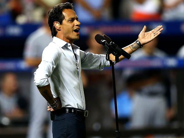 "Marc Anthony's MLB All-Star Game Performance  - Grammy-winning, Puerto Rican artist, Marc Anthony, was selected to perform the national anthem at the MLB All-Star Game in 2013. Controversy aroused when Anthony sang Berlin's ""God Bless America""; racist remarks flooded social media. Baseball fans took to Twitter to protest the Latino singer by calling him ""un-American"" along with other racist remarks. Born in New York and raised by Puerto Rican-born parents, Anthony said he is definitely qualified to sing one of America's most patriotic songs."
