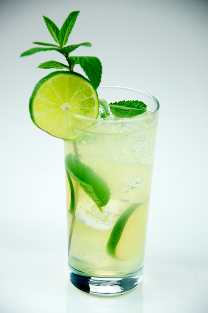 The Mojito - Ordering a mojito is regular for those on a tropical vacation or trying to reminisce/dream about one. It signifies that you're refined and looking to have a fun time. It contains mint, fresh lime juice, rum, sugar, and club soda.