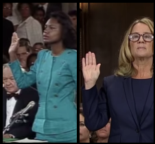 Anita Hill on the left and Christine Ford on the right