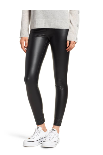 Faux Leather Leggings LYSSÉ Price$98.00Free Shipping Flattering leggings in four-way-stretch faux leather feature a comfortable high waistline for a streamlined look.
