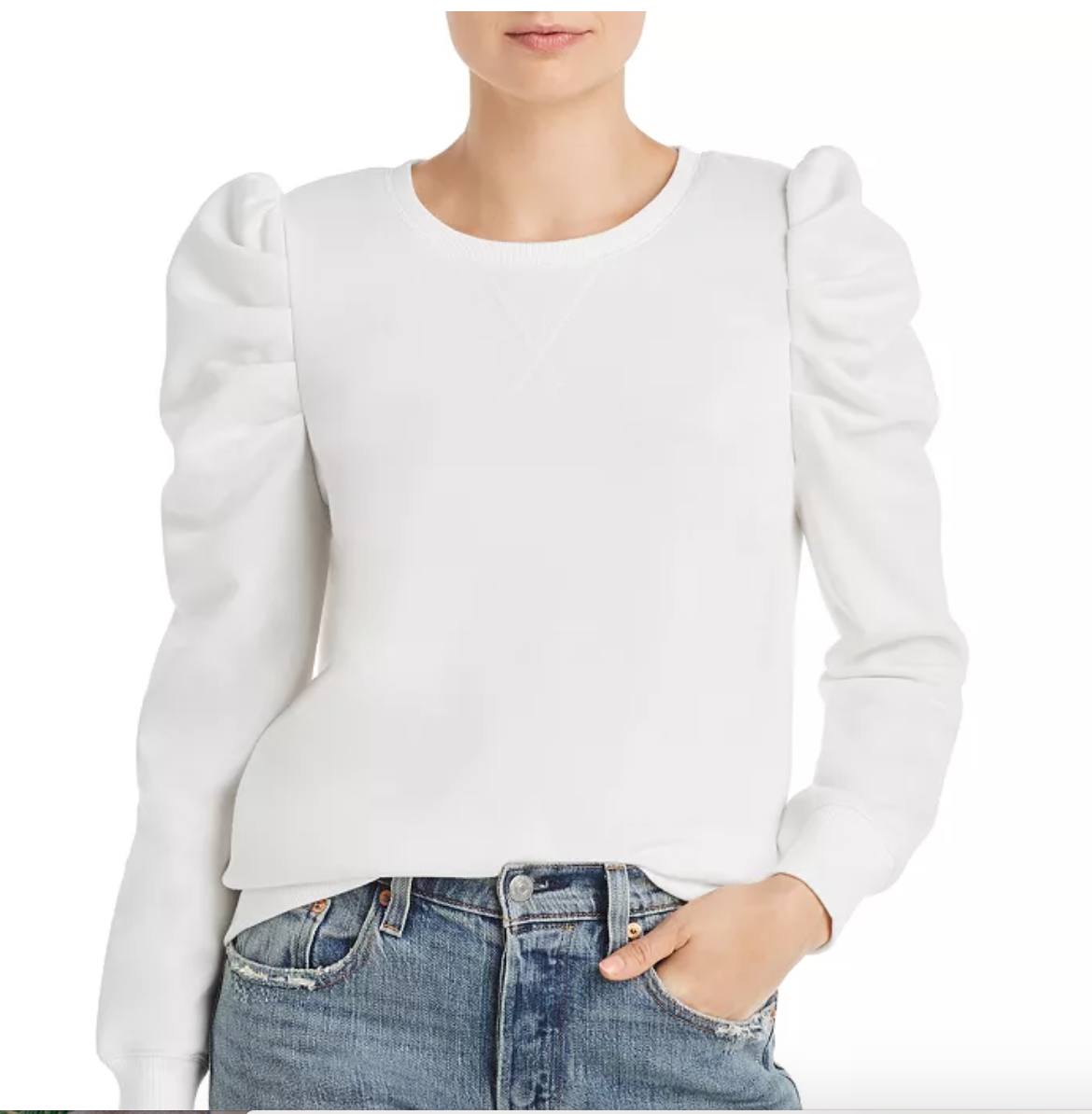 Rebecca Minkoff Janine Pleated Shoulder Sweatshirt