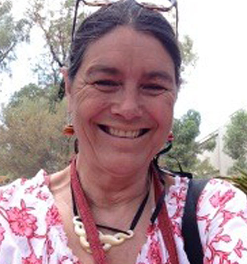 """Samia Goudie  is a writer, director, producer and artist. She has been published in the 2013 edition of The Southerly Journal, anthology of Aboriginal and Torres Strait Islanders special edition """"I am here"""" (the Southerly, Vol. 71, No. 2, 2011: 12-1 3). She was a 2006 recipient of the Fullbright Award. She has developed a process using digital story telling as an engagement tool for youth and communities to tell their stories as well as an archiving process to record community oral histories. She has shared this work in the USA and in 2007 was invited to help pilot a similar project with the Hope-Vale Community with the Pelican project. See http://samiasto ries.wordpress.com and www.svpelican.com."""