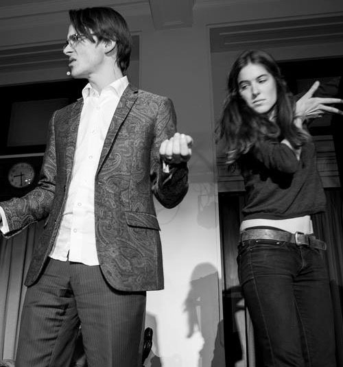Eleanor Malbon  and  Aaron Kirby  are poets from Canberra interested in questions of human society and the earth from which it blooms.Together the writers and performers ofEucapocalypts Now, part of You Are Here 2015. (Image Adam Thomas)