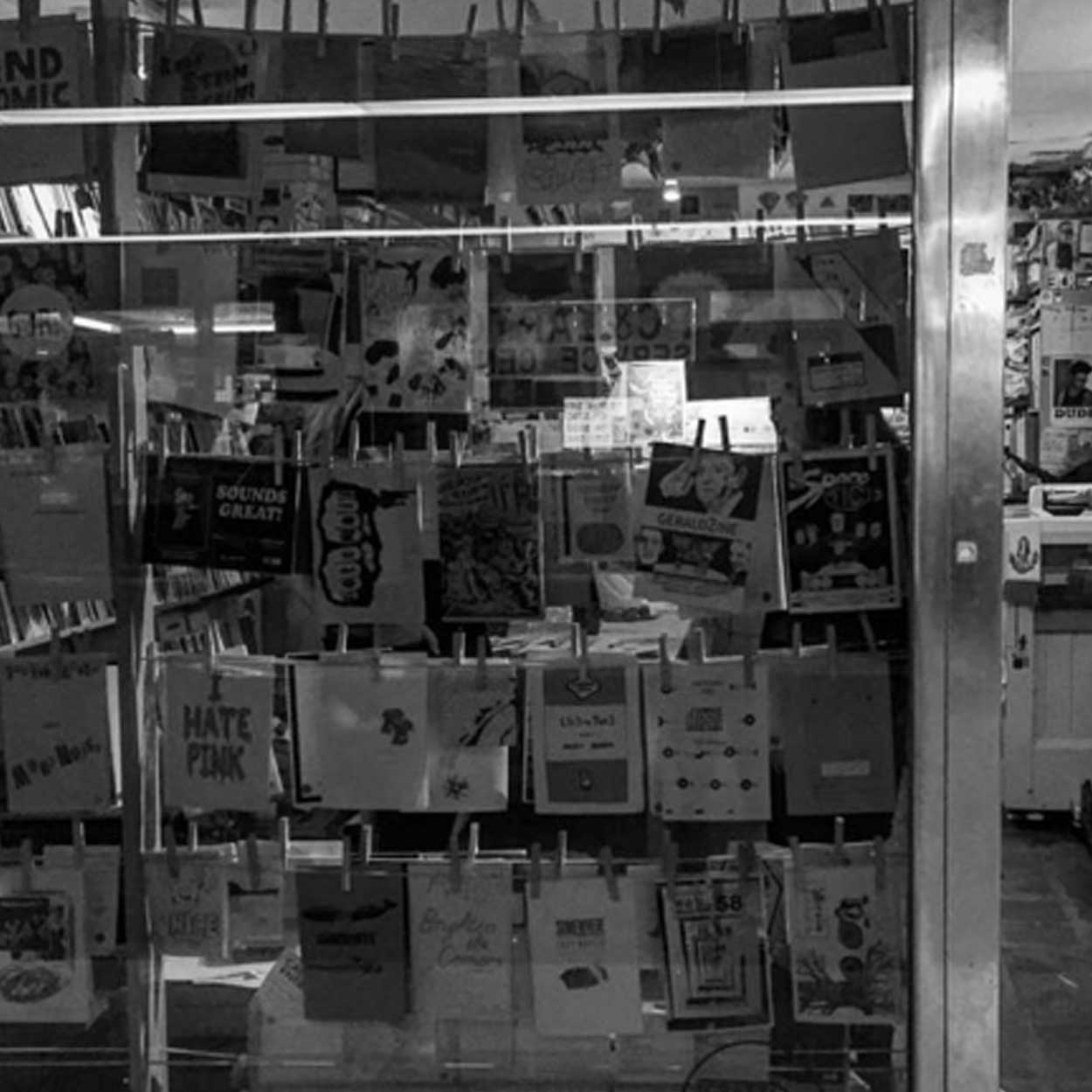 Sticky Institute  is a volunteer-run shop and resource devoted entirely to zines. We sell zines on behalf of zinemakers, and since opening in 2001 have stocked over 12,000 zine titles.  Find out more here.