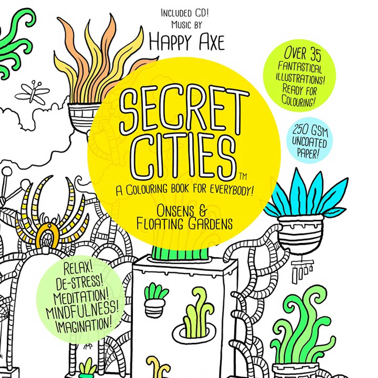 Paul Summerfield  recently successfully Kickstartered his first premium quality colouring book  for adults, called  Secret Cities  (all ages). You know, for relaxation, de-stressing and all those other buzz words which you have have heard before. Illustrations inspired by travels in Japan and Australia. The book also includes a CD of tranquil sounds by Happy Axe (aka Emma Kelly)   Find out more here.